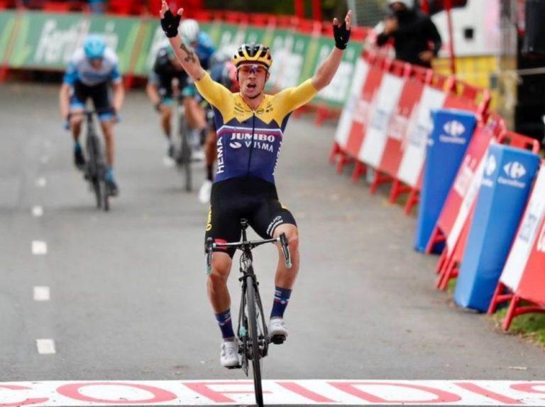 Primoz Roglic won the first stage of La Vuelta a España