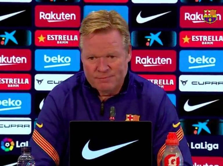 Koeman: «Without an audience there is a little less morbid»
