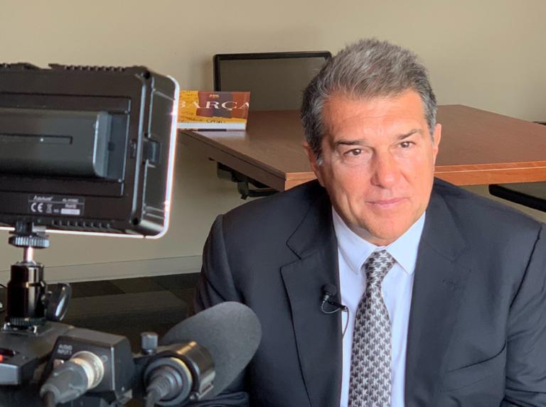 """Laporta: """"Volver a ser presidente del Barca es el reto más grande de mi vida"""""""