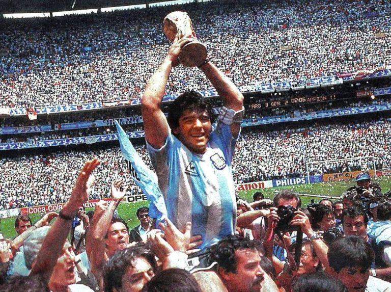 Diego Maradona alcanzó la cima en México 1986