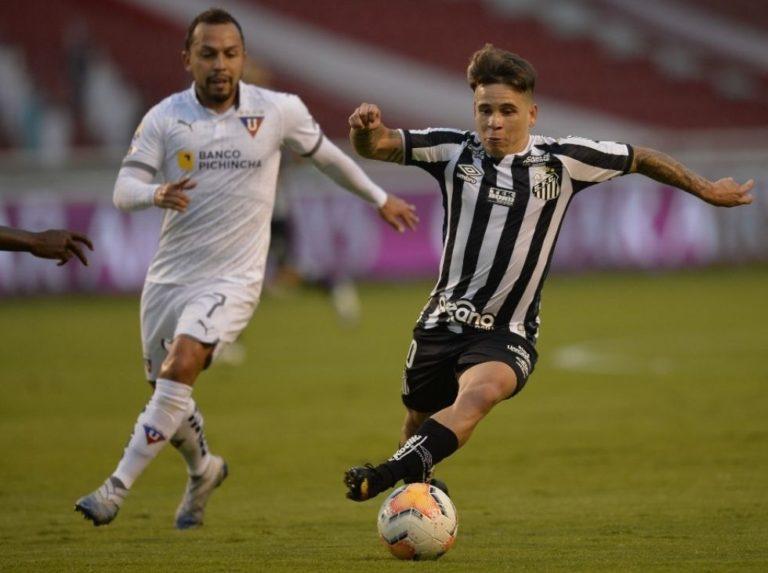 Soteldo adelanta al Santos en los octavos de la Libertadores