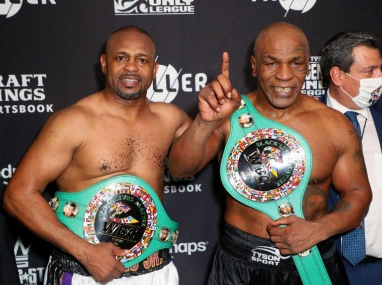 Tyson volvió al ring y empató en exhibición ante Jones